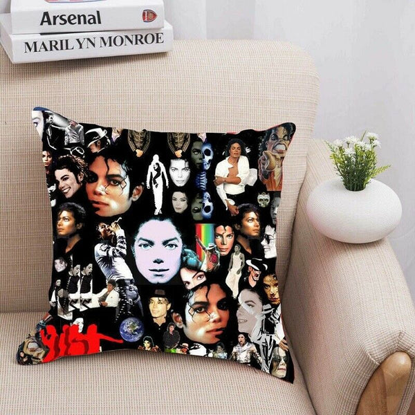 Halloween Michael Jackson Singing Pillows Case Zipper Cover Home Sofa Decorative