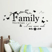 Quote Wall Deca Art Words Wall Sticker Home Decor Wedding Decoration Living Room