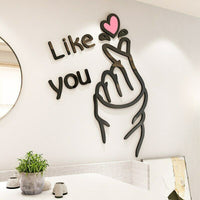 """Like you"" Home Decor Wall Sticker Mural Art Wallpaper Removable Bedroom Living"