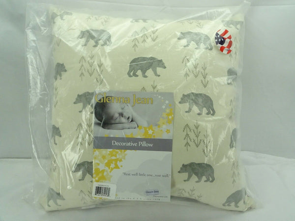 Glenna Jean Decorative Pillow Nursery Fairbanks Bear Made in USA T3