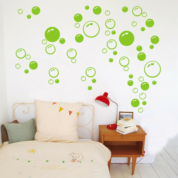 Bubble Circle Wall Sticker Home Bathroom Toilet Living Room Background Art Decor