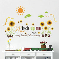Wall Sticker Home Decor Garden Scenery Decal Bedroom Living Room House Accessory