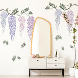 Wisteria Flower Home Wall Sticker Living Room Background Decal Mural Home Decor