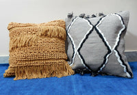 "2 PCs Combo Pillow Cover Decorative Bedding Pillowcase 18"" Sofa Sham Zip Closure"