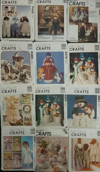 Sewing Patterns Decor/Headwrap/Easter/Crafts/Christmas/Pillows/Drapes Lot #11