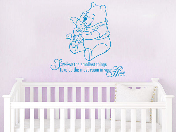 Winnie the Pooh Wall Decal Quote Vinyl Sticker Nursery Baby Room Decor ZX212