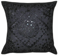 New Indian Handmade Embroidered Mirror Work Pillow Case Cushion Cover Sofa Decor