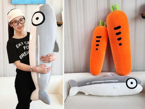 39'' Stuffed Salmon Carrot Plush Toy Pillow Sleep Home Decoration Baby Doll Gift