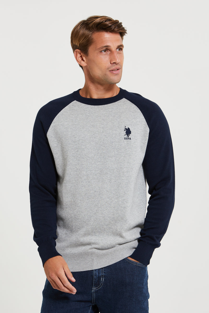 U.S. Polo Assn. Raglan Knit Crew Jumper