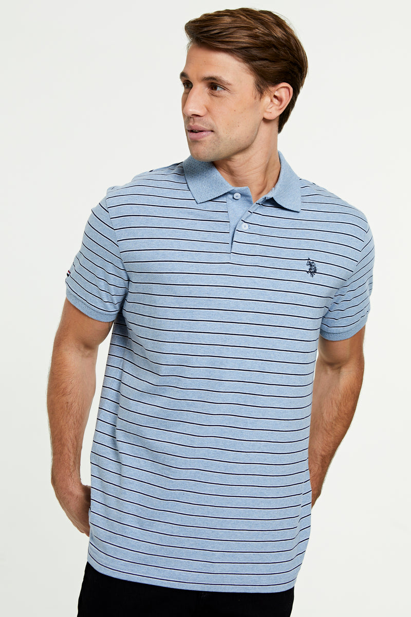 U.S. Polo Assn. Stripe Relaxed Fit Jersey Polo