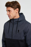 U.S. Polo Assn. Colour Block Hooded Bomber Jacket