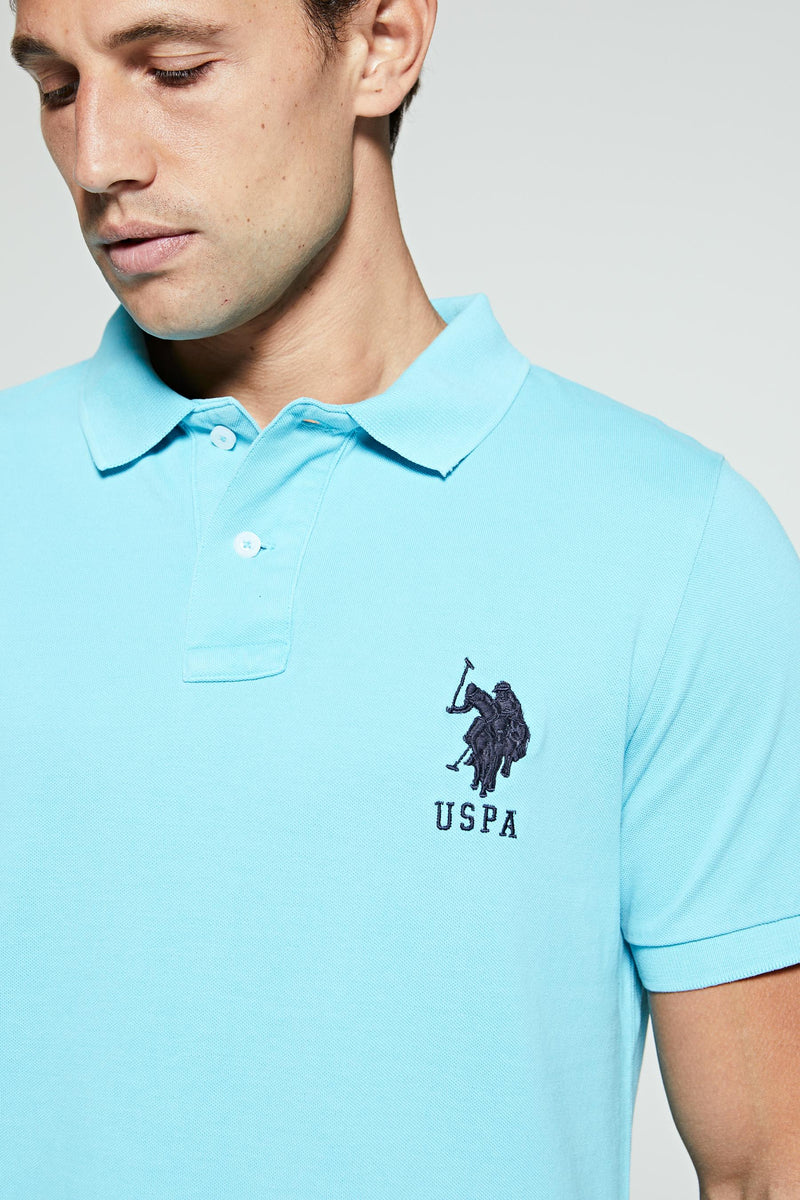 U.S. Polo Assn. Acid Wash Double Horseman Pique Polo Shirt