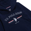 U.S. Polo Assn. Toddler Stripe Rider Hoodie and Joggers Set
