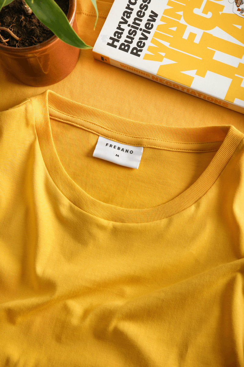 YELLOW SUPIMA COTTON TEE