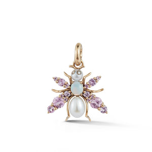 14K Gold & Gemstone Beatrice Bee Charm