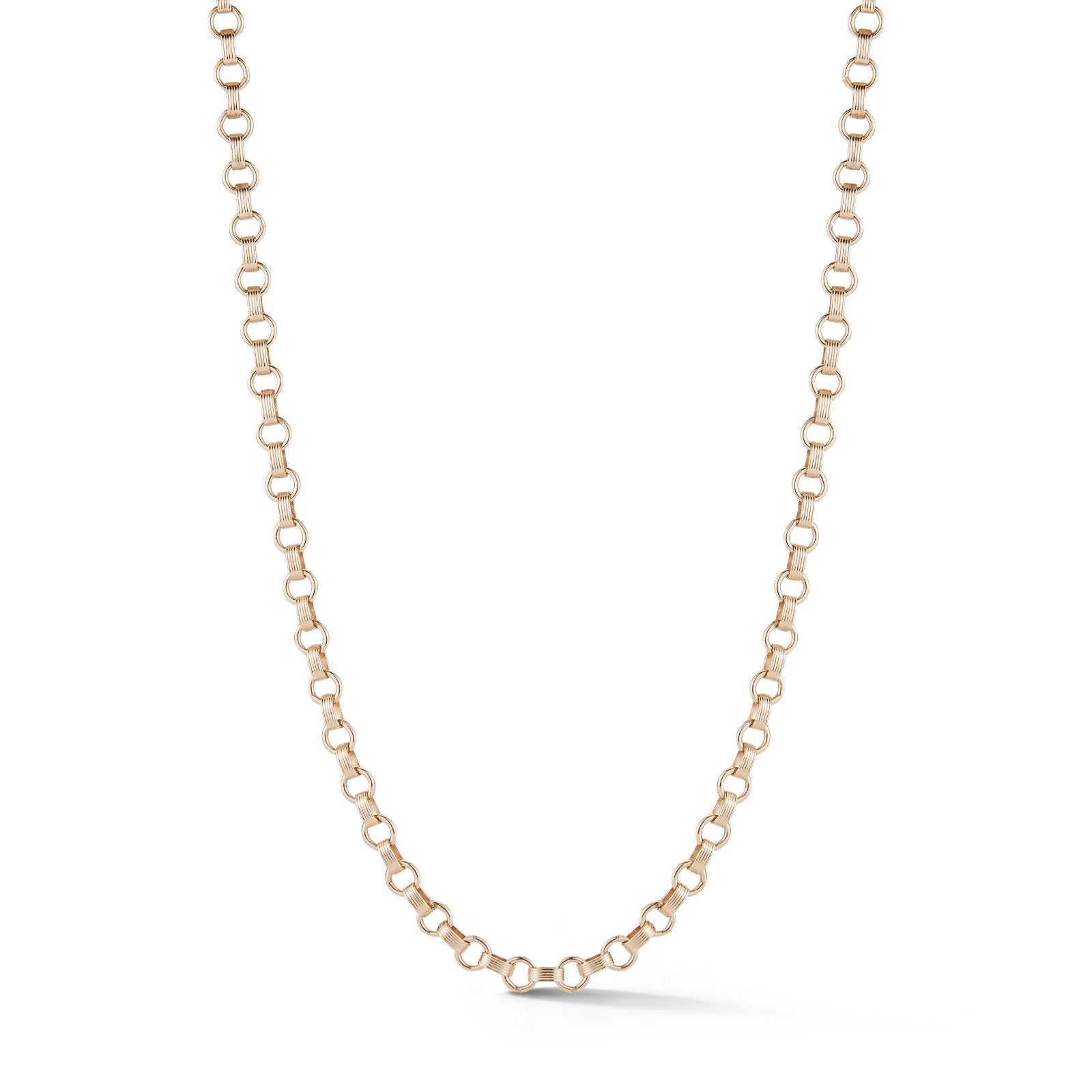 "14K Gold Book Link 19"" Everett Chain"