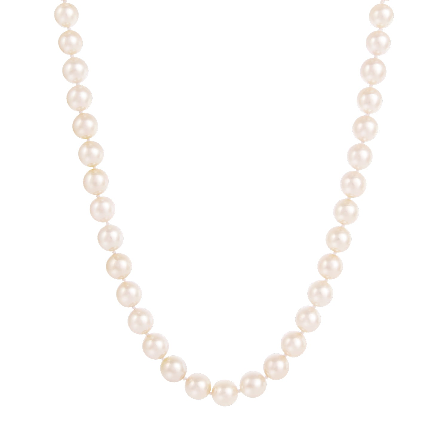 "14K 18"" AAA 7.5-8.5MM Japanese Akoya Pearl Necklace"