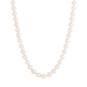 "14K 22"" AAA 7.5-8.5MM Japanese Akoya Pearl Necklace"