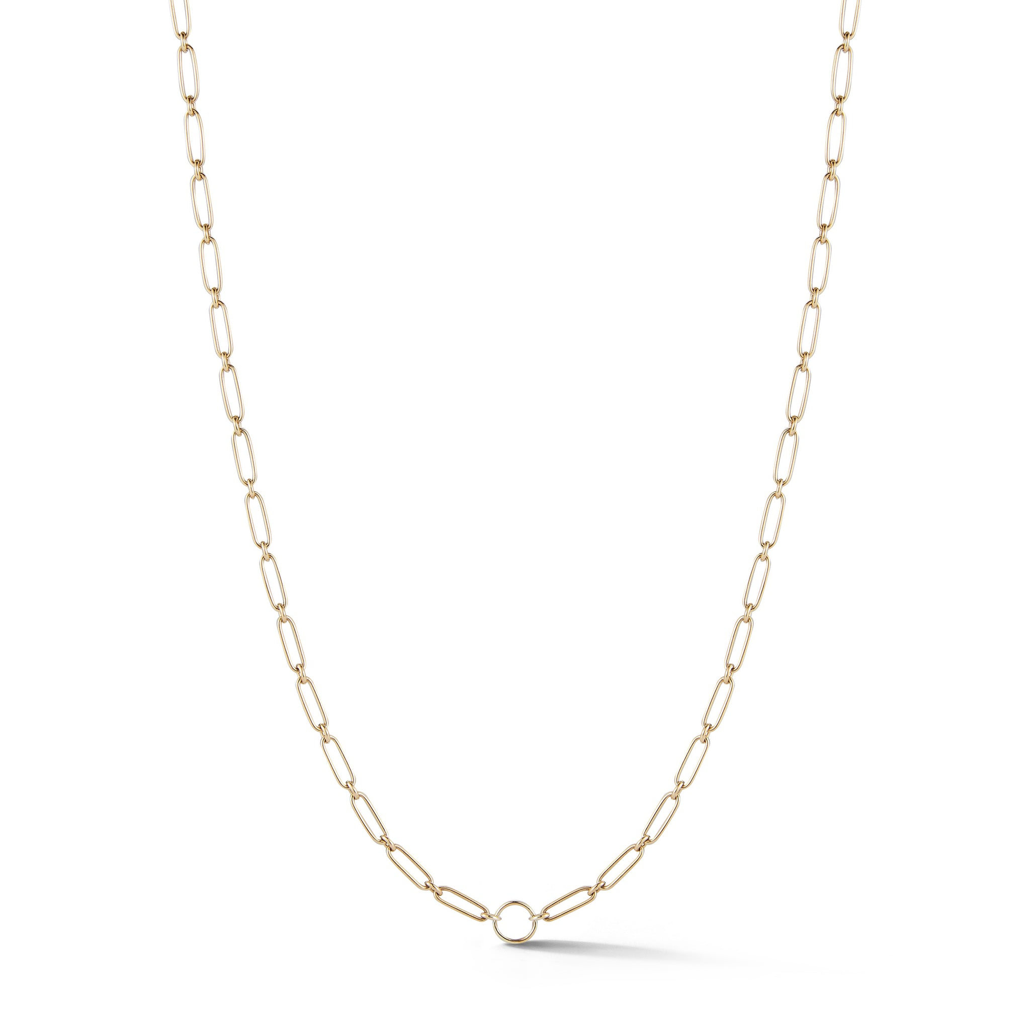 "14K Gold Handmade 18"" Chain Circle Center Milton Chain"