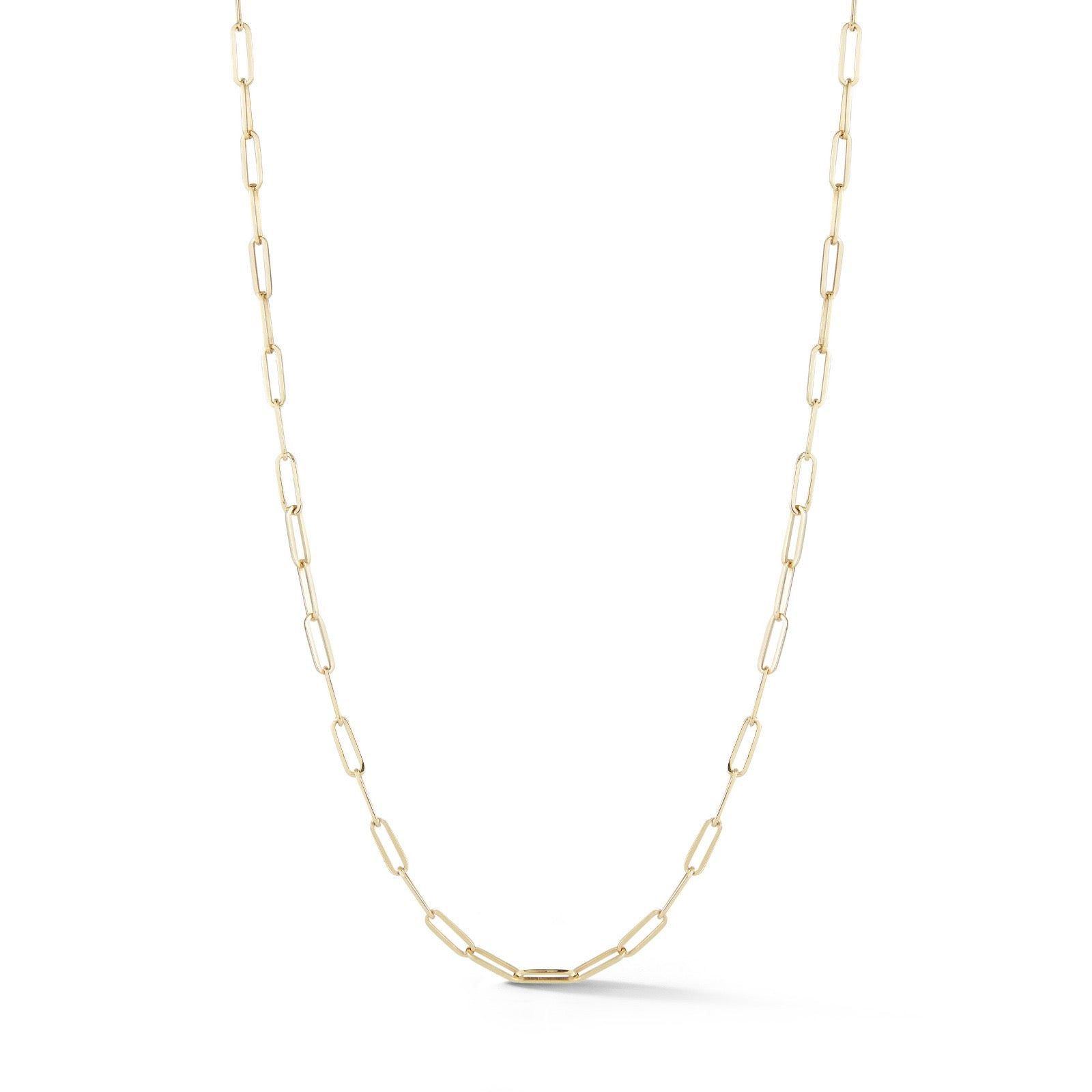 "14K Gold 24"" Elongated Link Irving Chain"