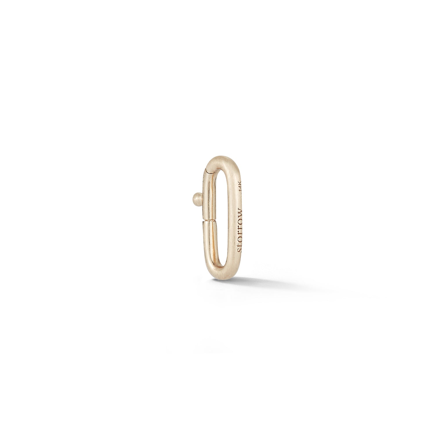 14K Gold Oval Clip Bail