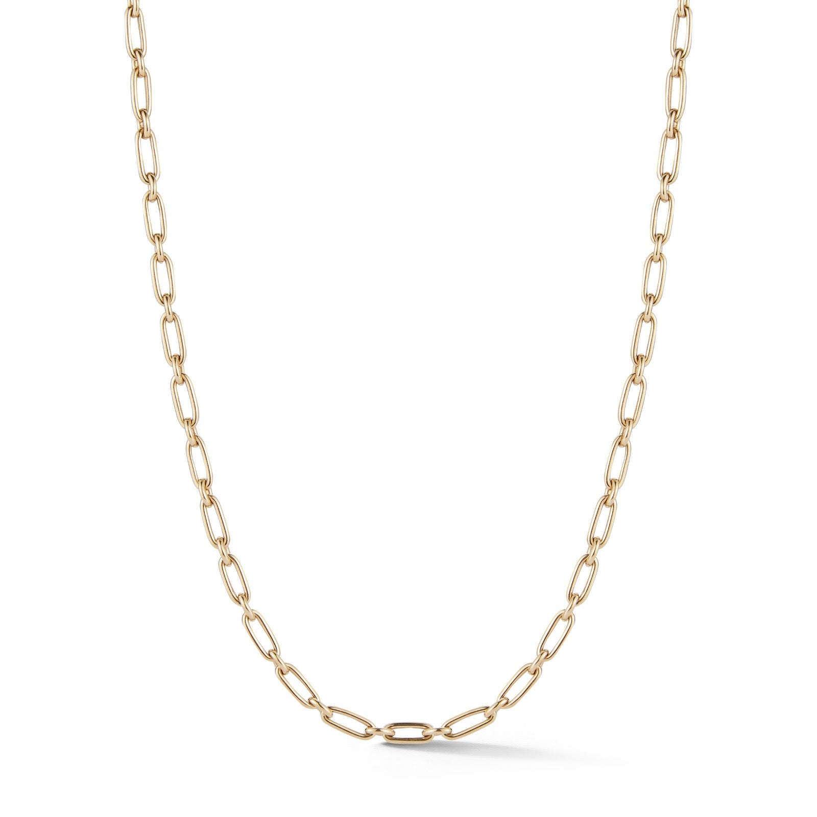 "14K Gold Heavy Alternating Elongated Link Handmade 19"" Oscar Chain"