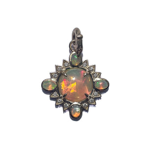 14K Gold Opal & Diamond Mini Nora Charm