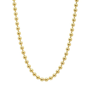 "14K Gold 18"" 2.5mm Beaded Ball Stanley Chain"