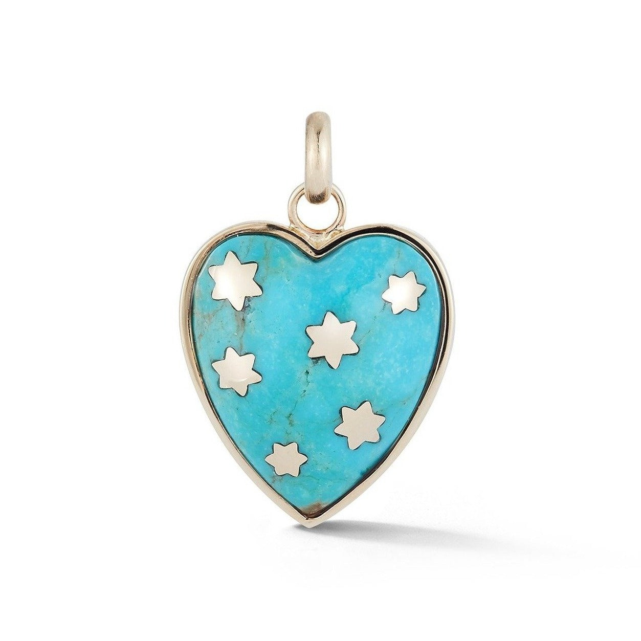 14K Gold & Turquoise Anna Heart Charm