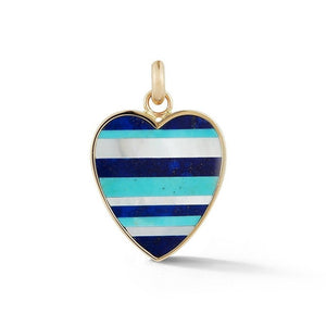 14K Gold & Gemstone Eloise Heart Charm