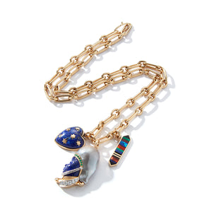 14K Gold Pearl & Lapis Imperial Soldier Katherine Charm