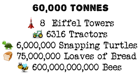 Information about how heavy 60,000 tonnes equates to