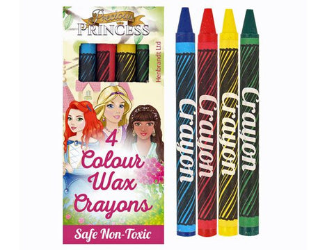 4pk Princess Wax Crayons