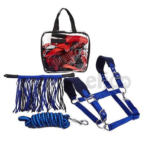 Elico Dalston Headcollar, Rope and Fly Fringe Set