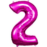 Pink Number 2 Balloon