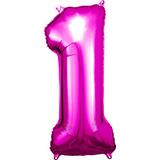 Pink Number 1 Balloon