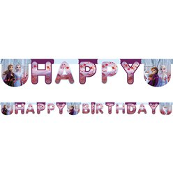 Disney Frozen 2 Happy Birthday Banner