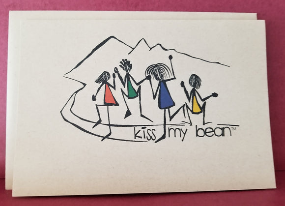 Kiss My Bean Greeting Cards
