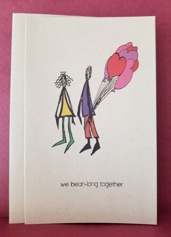 Greeting Card -- bean-long together