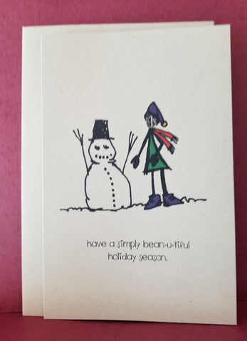 Holiday Greeting Card -- Bean-u-tiful Holiday Season