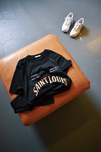 'Saint Louis' 1984. Tee - Black
