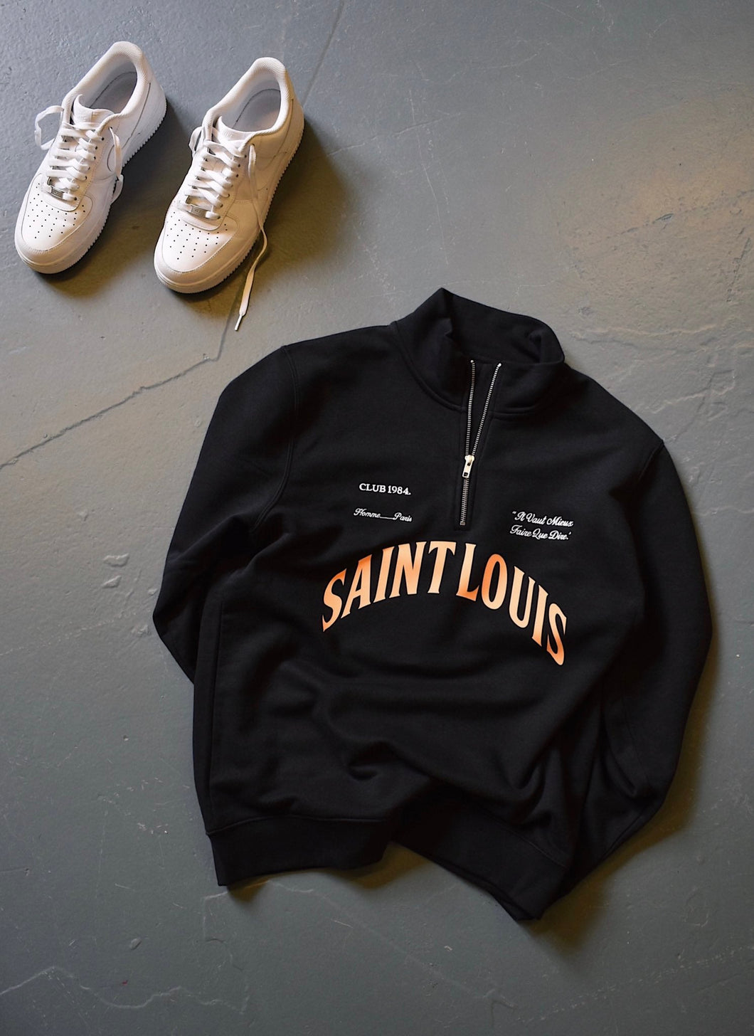 Saint Louis 1/4 zip - Black