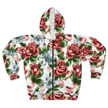 Load image into Gallery viewer, Roses & Lillies Unisex Zip Hoodie | HUSTLECANVASES