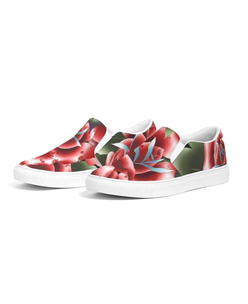 Roses Classic Unisex Slip-On Canvas Shoe | HUSTLECANVASES
