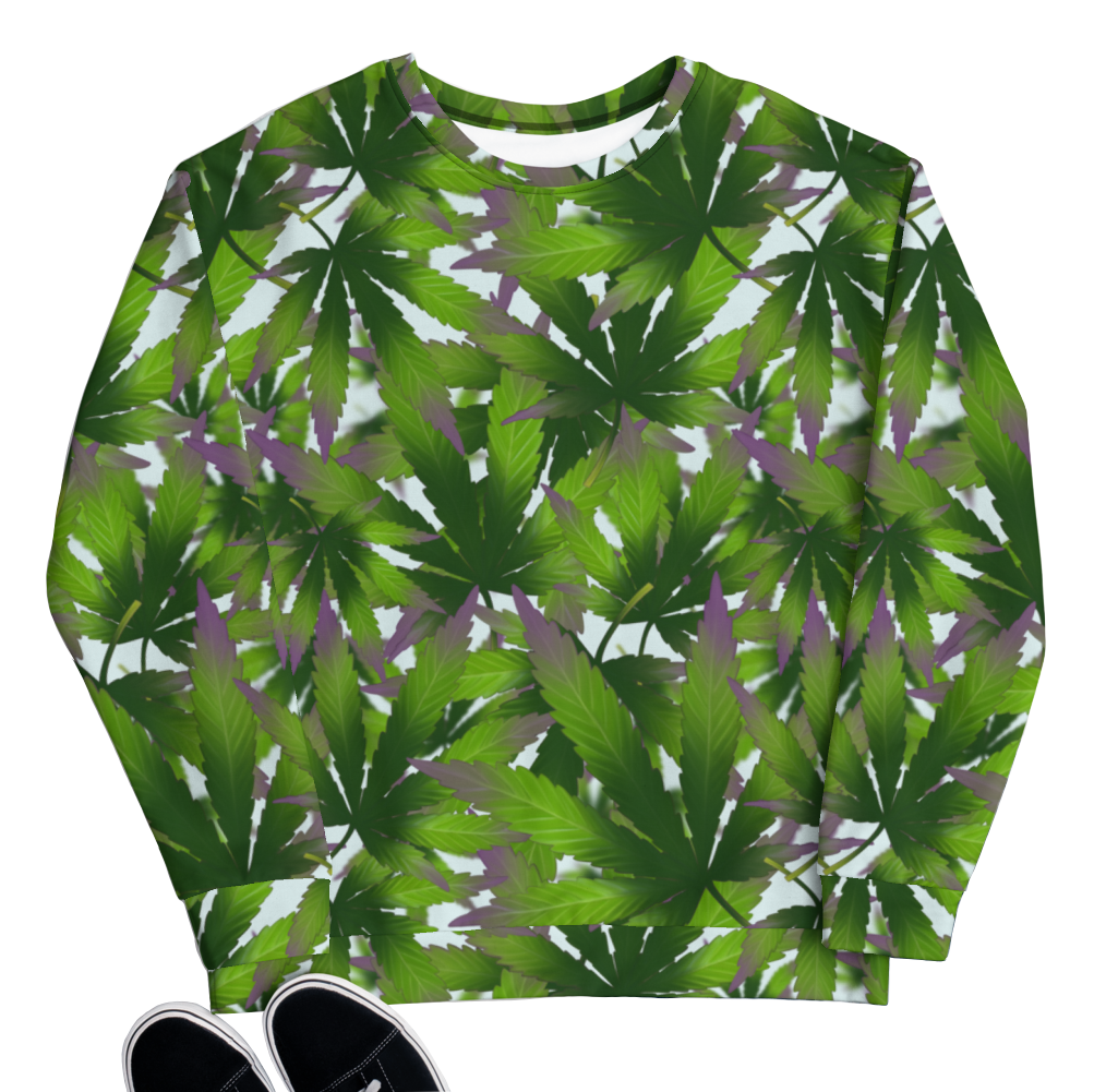 sensi stoner 420 marijuana cannabiss all over print sweatshirt sweater