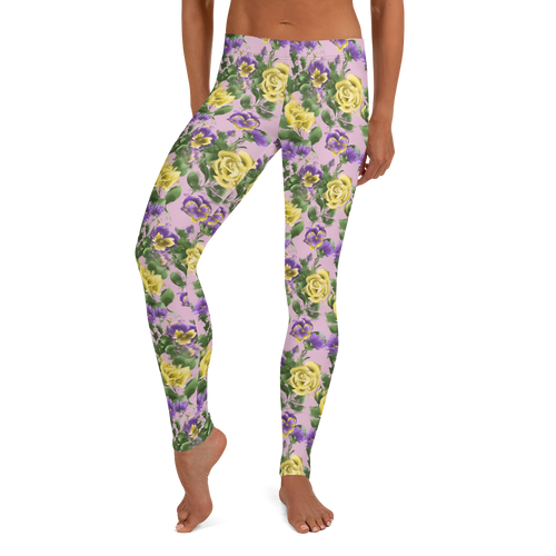 Leggings spans floral print flowers flower design women's apparel clothing bottoms botanical