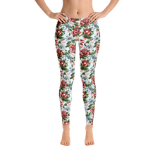 Load image into Gallery viewer, Roses lillies tattoo art flash leggings custom spans bottoms women's fashion trending floral flowers prints designs roses lillies botanical