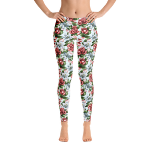 Roses lillies tattoo art flash leggings custom spans bottoms women's fashion trending floral flowers prints designs roses lillies botanical
