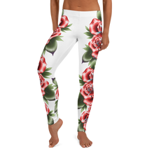 Load image into Gallery viewer, Traditional Roses Leggings | HUSTLECANVASES