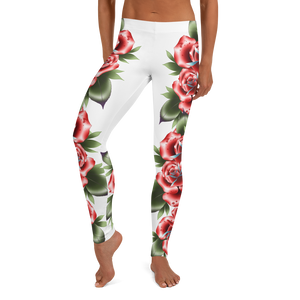Traditional Roses Leggings | HUSTLECANVASES
